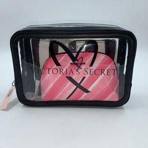 Victoria's Secret 3 Piece Cosmetic Bag